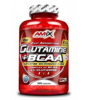 GLUTAMINE + BCAA - 360 CAPS